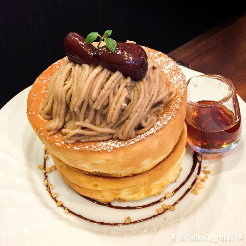 星乃珈琲の「栗のスフレパンケーキ」